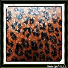 waterproof leopard pattern microfiber leather for handbag lady's shoes material