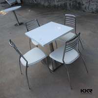 Solid surface acrylic coffee table /Stone round table top/ cafe tables and chairs