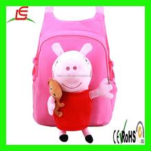 C126 Cute Peppa Pig Cartoon Children Schoolbag Backpack Pink