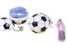 Promotional Plastic ball raincoat/poncho