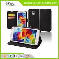 Wholesal mobile phone leather case for Samsung Galaxy S5