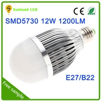 New product promotion CE ROHS SMD5730 AC85~265 12W br 30 led bulb great value