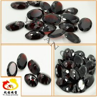 New product facets cut oval shaped crystal natural raw garnet price