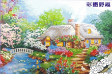 2015 New arrival natural scenery oil painting by number for wall art