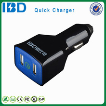 New arrival bottom price fast delivery quick charge 2.0 fast usb car charger for Iphone/Ipad/Ipod/MP3 4