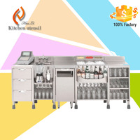 Stainless Steel Bar Counter Work Station Stand Furniture with Refrigeration
