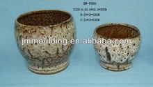 clásica de cerámica de mesa crujía florero