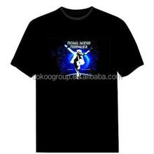 Customized Equalizer EL music flashT-shirt, lighting advertisement t-shirt!/light t-shirt