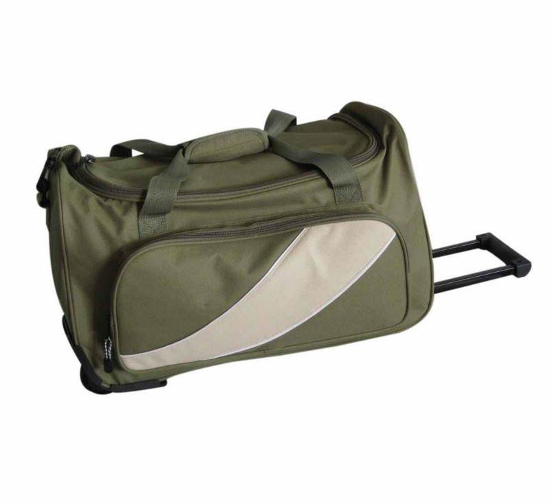 Toptan tekerlekli spor spor çantası, polyester bez çanta, spor çanta