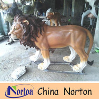 life size colorful resin material lion statue NTRS079S