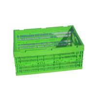 Green color plastic mesh type fruit and vegetable case with strong load - bearing