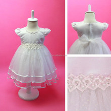 HOT ! Kids Frock Designs Layered Organza Shiny Flower Girl Princess Evening Party Wedding Tutu Dress Elegant Girl Noble Dress Up