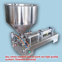 new arrive+stainless steel+wholesale price+single nozzle, cream sauce paste filling machine 50ML-500ML