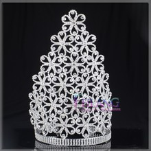 """12""""TALL Large Rhinestone Imperial Crown Crystal Pageant Crown"""