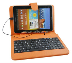 Hot selling tablet leather case for 7 inch keyboard case for android tablet