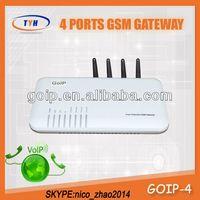 TYH Gevey Sim Card 4 Port Gsm VoIP Gateway 4 Channel GoIP Gsm Gateway Free Tech Support
