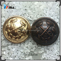 Anchor gold brass Metal shank Buttons For Jackets