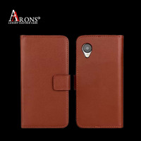 Customize color genuine leather wallet case for LG