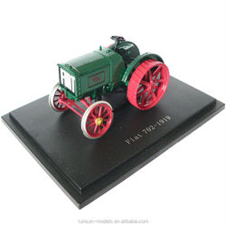 g2201 die cast tractor toy with green colour fiat 702