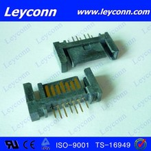 Factory supply 7 Pins Straight Solder A Type SATA Connector