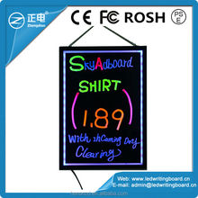 50x70cm 2015 new design ultra-thin frame led light display advertising board for shops special offer product notice