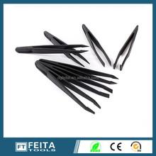 Professional vetus conductive high precision ESD plastic tweezers