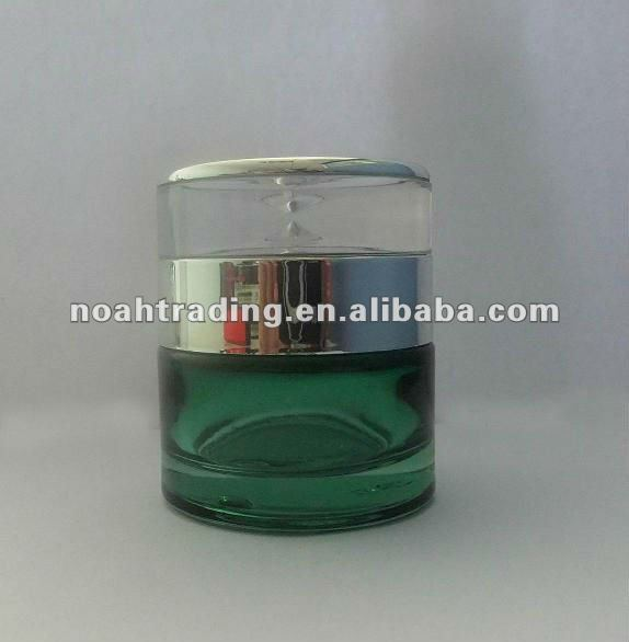 cylinder brown glass cosmetic jar