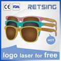 Gafas de sol polarizadas de madera de bambú