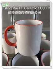 Handle and Rim Color Ceramic Promotion Gift Mug