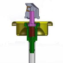 Artificial snow spray valve/colored snow spray aerosol valves