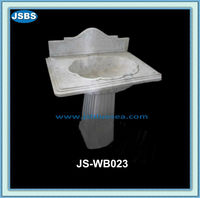 Home Freestanding White Marble Antique Pedestal Basin