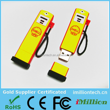 Customized design Gas Pump PVC usb flash drive order from alibaba China, new mould cost refund