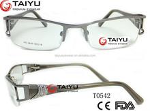 half rim alloy eyewear optical frames with costomer OEM logo