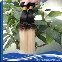 Wholesale Human Hair, Cheap Indian Hair Weave, Straight Virgin Hair Indian Human Hair Extension ombre 1b/613 color