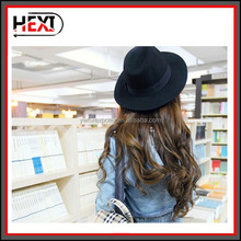 Wholesale popular design Black fedora hat