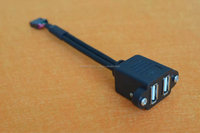 """Black USB 2.0 Female A to Dual A Male Extra Power Data Y Extension Cable for 2.5"""" Mobile Hard Disk"""