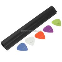 Hot sales Mic Microphone Stand Guitar Holder 0.81mm Pick Slide Plectrum Plastic Black Convenience Storing