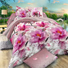 Polyester brushed panel disperse printed bed sheet fabric in India market