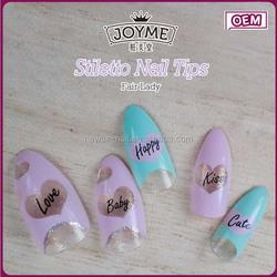 Hot sale fashion trand stiletto tip fair lady glue applicator tip beauty nail art design