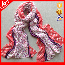 2015 Small Flower Polka Dot Side Hemming Cute Scarf