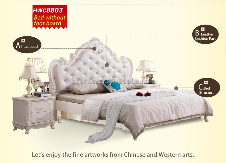 Estilo barroco francés muebles de dormitorio de matrimonio moderno ...