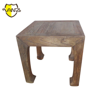 recycled elm wood side table end table, vintage reclaimed wood industrial furniture VZL045