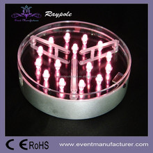 Factory price 4 inch round LED tall wedding candelabra centerpiece vase base for wedding table