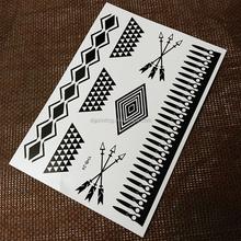 White and Black Classic Collocation Temporary Tattoo Sticker For Body Art