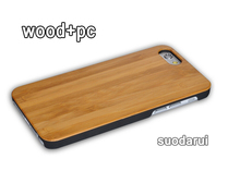High Quality Wood And PC Back Cover For iPhone 5s/5/5c Bamboo Phone Case