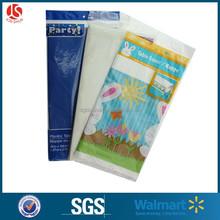 FDA PE disposable plastic tablecloth item, PDF table cover drawing design