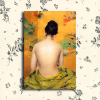 Art oil painting picture nude,canvas printing drop ship,metal aluminum poster,metal poster HH62