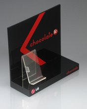 OEM Acrylic Pop Display Retail Cosmetic Counter Stand With Printings Acrylic Display
