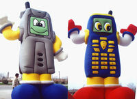 2014 new desgin cheap cellphone inflatable moving cartoon for advertising