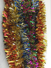 various design christmas/Xmas wired tinsel garland premium christmas outdoor decorations